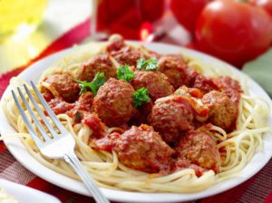 Authentic Italian Pasta, Pasta with Meatballs